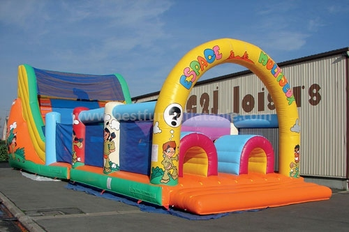 Inflatable Backyard Obstacle Challenge For Amusement Park