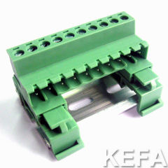 pluggable terminal block with DIN rail for wire to wire connection KF2EDG-UKR