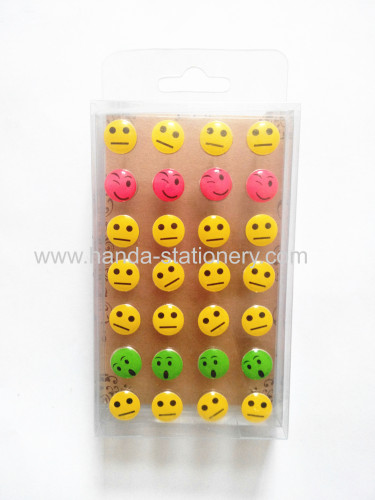 colored  smile shape push pin stationery push pins custom push pins