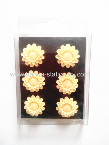 Game Party flower  shape resin Magnet Gift Magnetic Toys for Children  wooden magnet plastic magnets