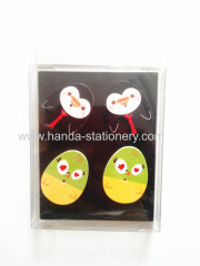 family decoration colorful for children cartoon wooden egg shape fridge magnet for fridge