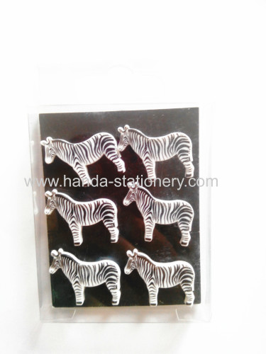 zebra shape animal magnet,rubber magnet,magnet