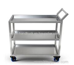 3-Shelf stainless steel storage trolley Industrial tool trolley with wheels