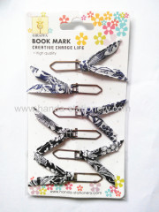 Beautiful creative shapes ribbon metal paper clips bookmarks