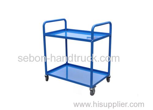 Heavy duty industrial tool truck Two shelf metal trolley