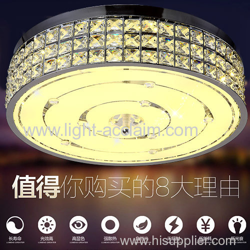Modern minimalist home suction dome LED semi flush ceiling lights creative crystal shade