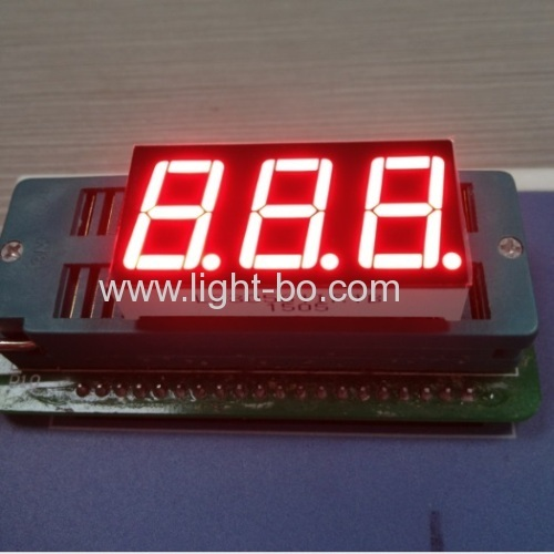 Pure Green common cathode 0.56 inches triple digit 7 segment led display