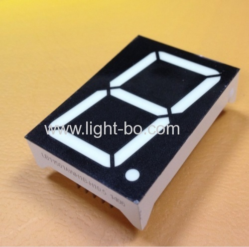 Common anode Single-digit 1.5  seven segment WHITE LED Display