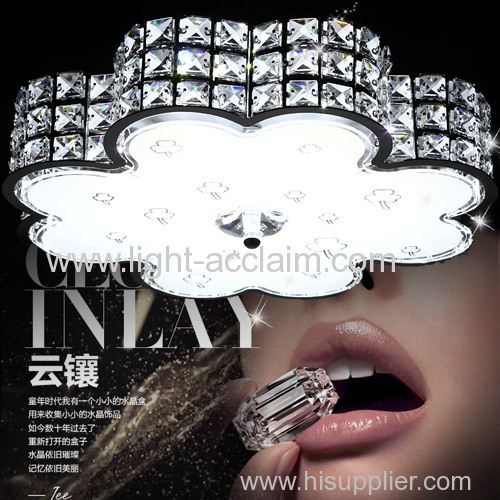 Modern minimalist crystal suction dome LED bedroom ceiling lighting living room lights