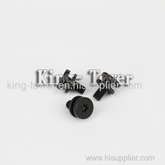 alloy steel hex socket black machine screw (with ISO card)