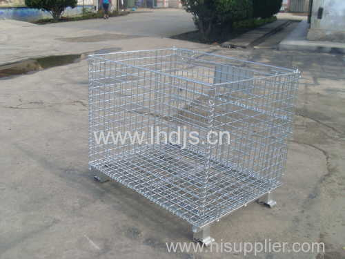 Steel Mesh Small Containers with Lid Security Mesh Box Wire Cage