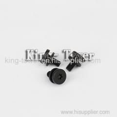 2015 hot sale stainless steel black anodized black machine screw