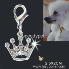 2015 高品質工場販売格安犬王冠チャーム