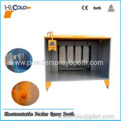 powder coated steel powder spray booth