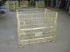 Wire steel storage container cage pallet