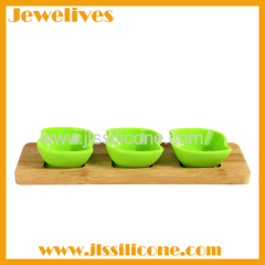 Silicone and Bamboo Serve-ware Set New Design