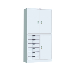 steel filing cabinet with 6 drawers