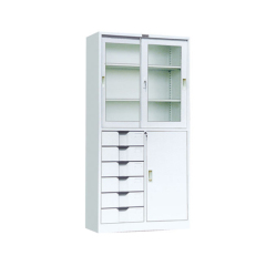 prompt delivery cheap Chinese furniture metal office cabinet steel filing cabinet with glass door