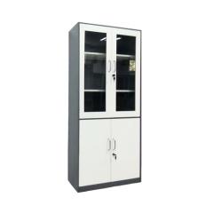 Simple Design 2 Glass Door Steel Office Filing Cabinet