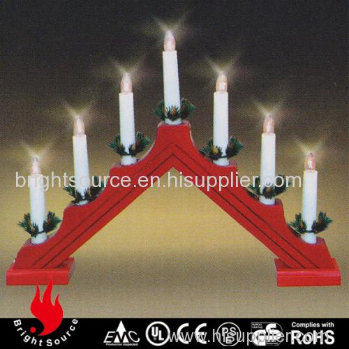 Best selling C6 wooden bridge candle light