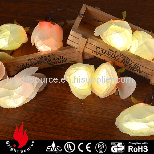 10L artificial flower warm white LED string decorative lights