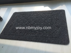 Rubber backing Polyester Embossed commercial door mats