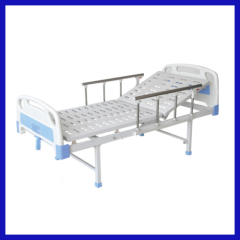 Single swing hospital bed for paralyzed patients