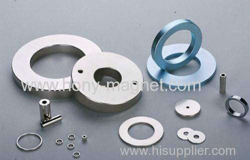 big ring n42 coated ring ndfeb permanent/neodymium magnet