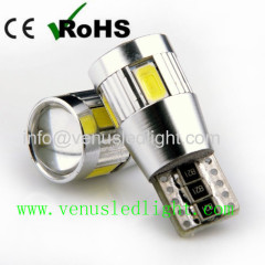 T10 6SMD 5630 194 501 W5W White Car LED Light Bulb Canbus ERROR Free Lamps