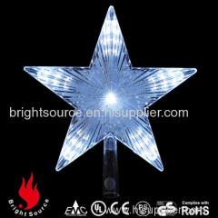christmas tree topper star white color led light