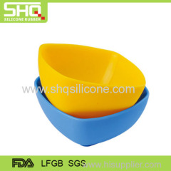 100% Food grade silicone rubber child bowl