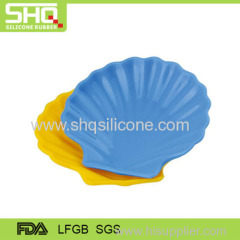 100% food grade silicone rubber child plate