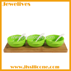 Silicone kitchen Set with Bowl and Spoon