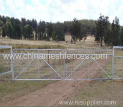 Galvanized Mesh Farm Gate retractable fence gate N Stay Farm Gate 25NB Galvanize Pipe Frame