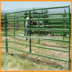 Steel Tubing Regular Bull Fence Panel and Gate