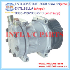 New SD7H13 U7320 A/C air Compressor Sanden 7H13 7320 4454 Universal /Heavy Duty/ AG Applications 14SD7320NC CO 7320C