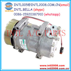 auto air ac compressor Sanden 709 SD7H15 PV8 for Scania trucks EURO5 DIESEL 1853081 1888033 1 853 081 1 888 033