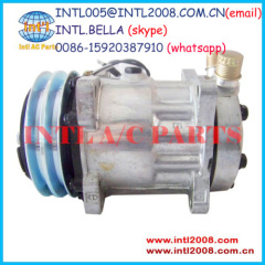 New Universal SD7H15 SD709 Sanden 4663 8126 air conditoner A/C Compressor CO 4663C U4663 U8126 MEI 5727 2010080 14SD4663