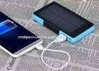 Rubber paint shell High Efficiency universal 8000mAh Solar Power Bank with LED light