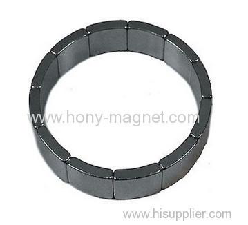 Ni coating arc n42 neodymium magnet