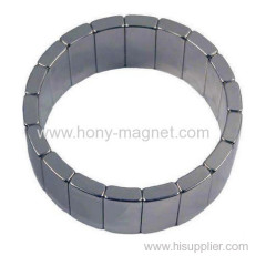 Ni coating arc n35 neodymium magnet