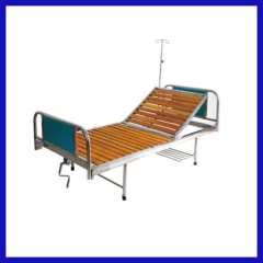 Single swing 2 cranks manual hospital bed