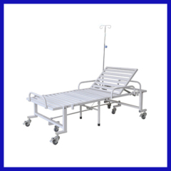 Manual lateral tilt hospital bed without guard bar