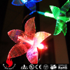 20 leds fiber light with flower decoration battery powered