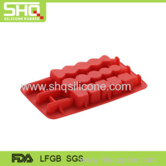 LFGB & FDA Fashion durable star shape silicone ice cube tray