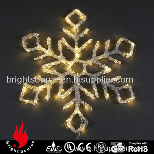 various color led snowflake