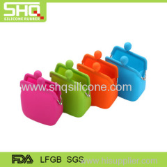 Colorful silicone rubber coin wallet