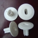 White Plastic Dual Feedthrough Wall Bushing for siamese coaxial cable