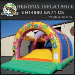 Soft mountain inflatable bouncer