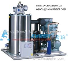 1-100ton/day Seawater Ice Flake Machine for marine freezing / frozen fish